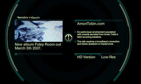 Amon Tobin website