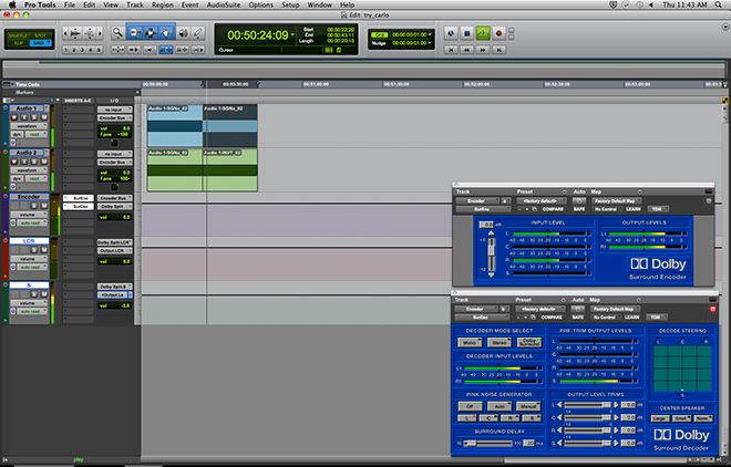 Premix session with ProTools