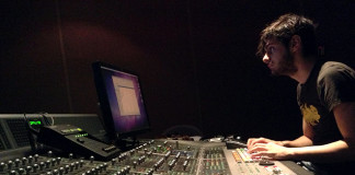 Carlo in the mixing session