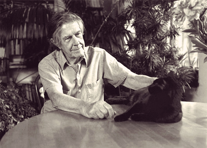 John Cage and his cat on Composers doing normal shit