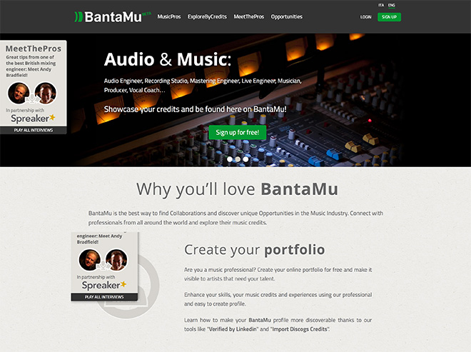 BantaMu homepage