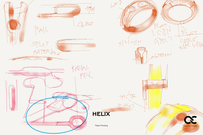 Helix Headphones sketches