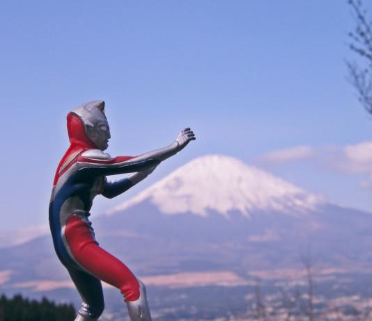 Ultraman + Mt. Fuji = JAPAN. Photo by Emran Kassim.