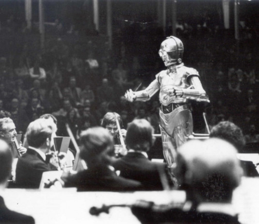 C3PO Conducting John William's Star Wars with the London Symphony Orchestra at the Royal Albert Hall, 1978