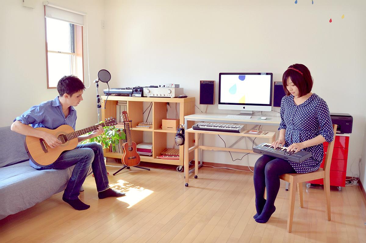 Shawn & Yoshimi in studio